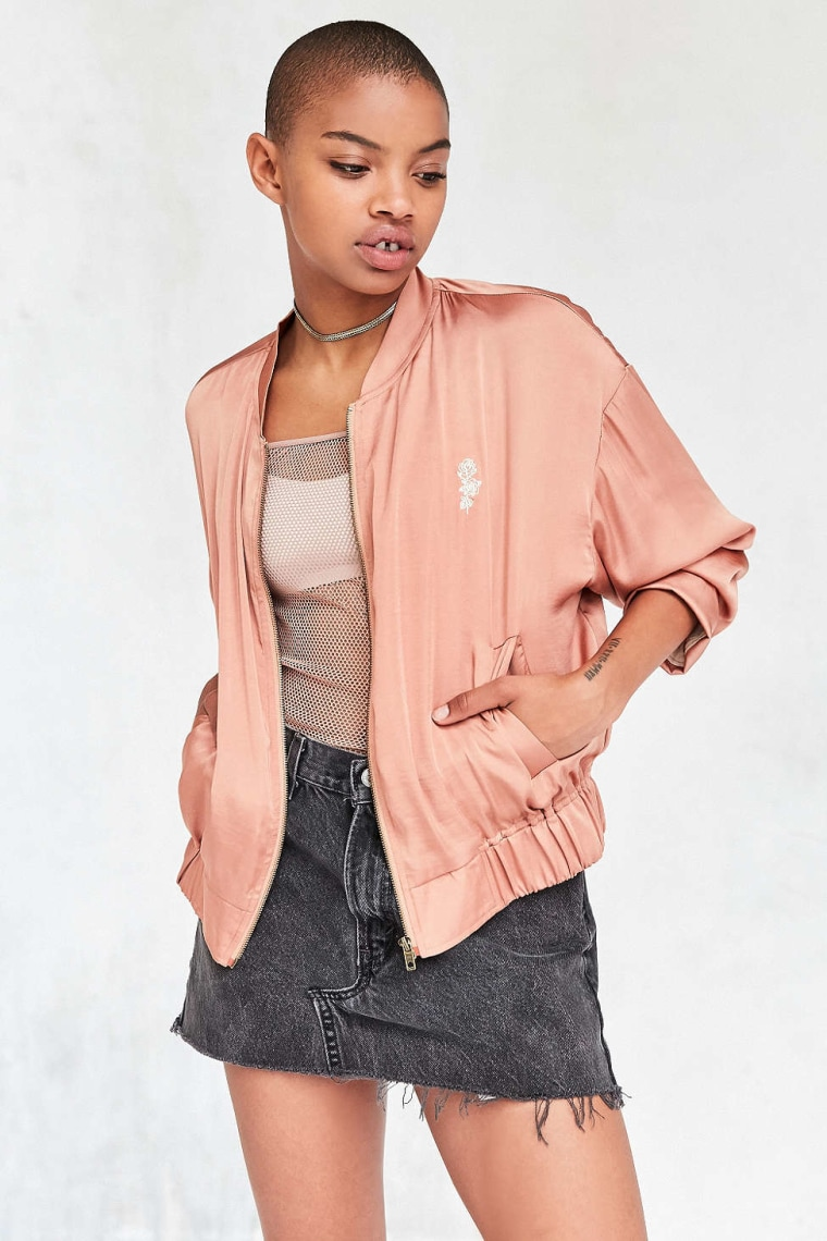 Urban Outfitters Silence + Noise satin bomber jacket