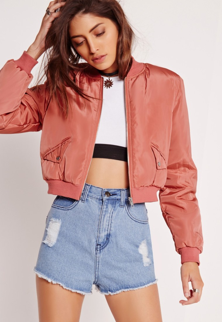 Missguided cropped bomber jacket