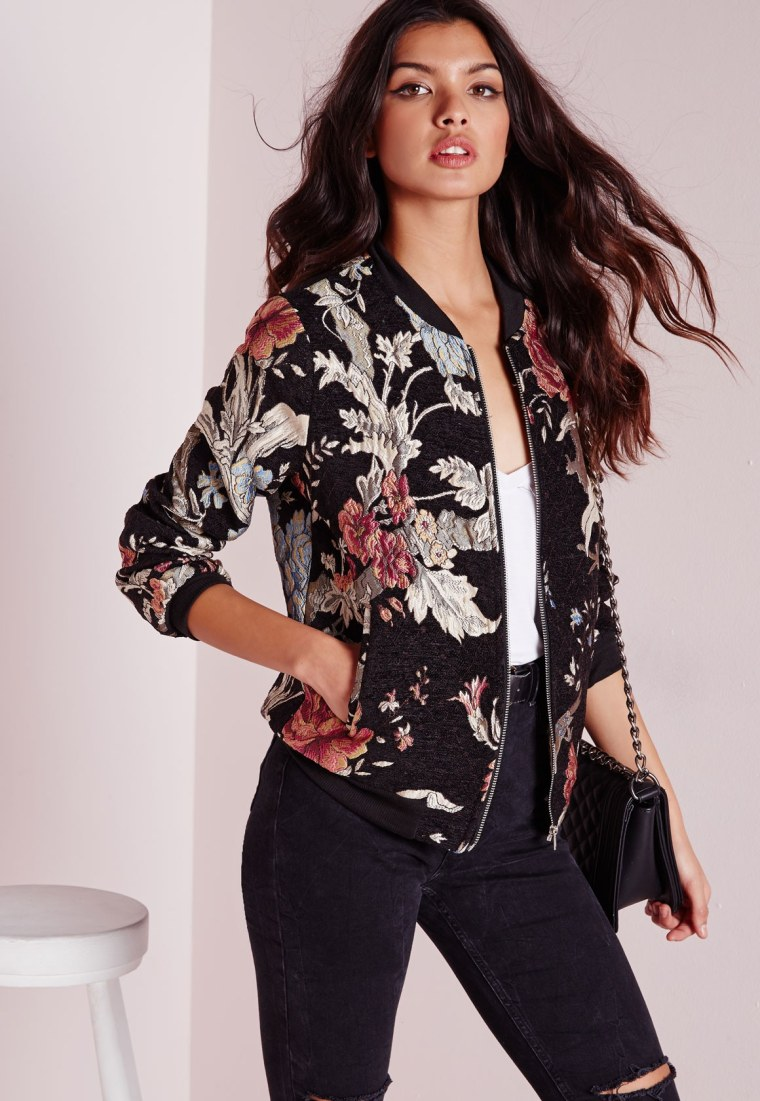 Missguided Embroidered Floral Jacket