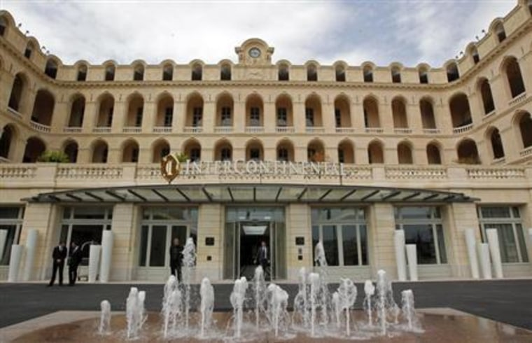General view of the former 18th century Hotel-Dieu hospital transformed in a new five star luxury InterContinental Hotel in Marseille