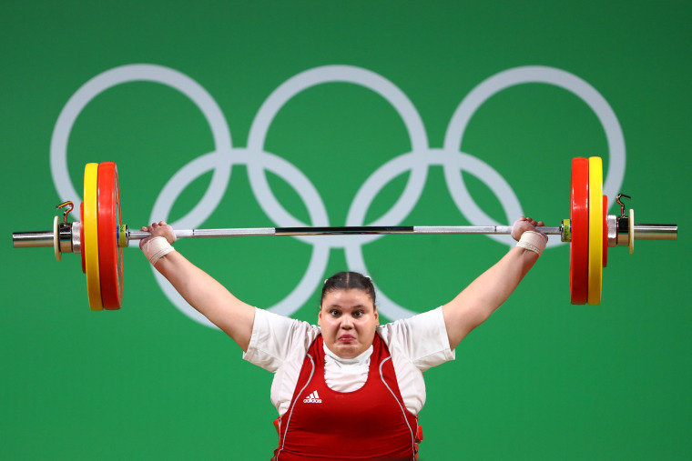 Image: Weightlifting - Olympics: Day 9
