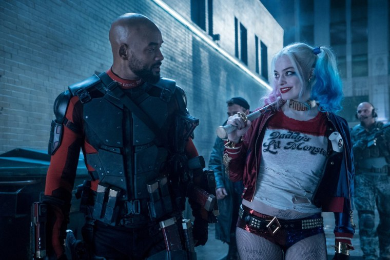 "Image: Will Smith and Margot Robbie in ""Suicide Squad."""