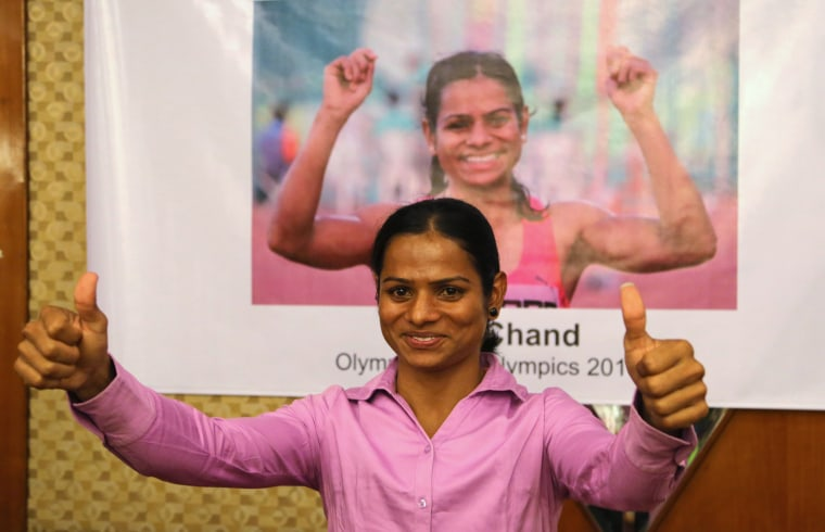 Image: Indian athlete Dutee Chand