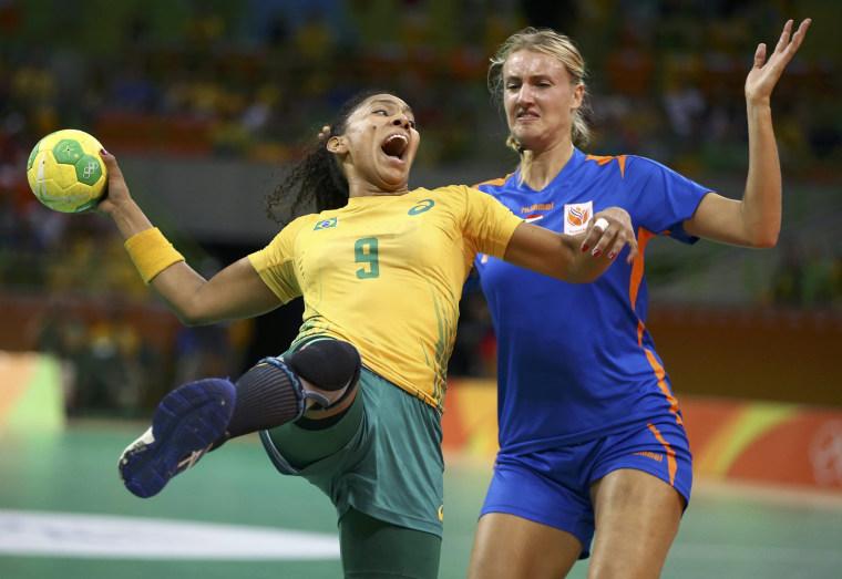 Image: Handball - Women's Quarterfinal Brazil v Netherlands