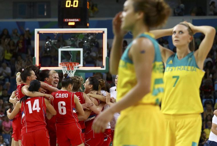 Image: Basketball - Women's Quarterfinal Australia v Serbia