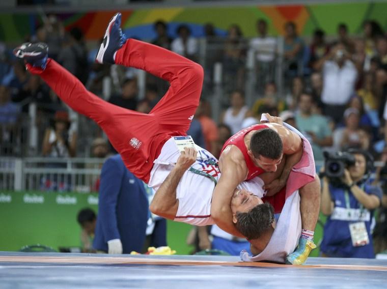 Image: Wrestling - Men's Greco-Roman 66 kg Gold Medal