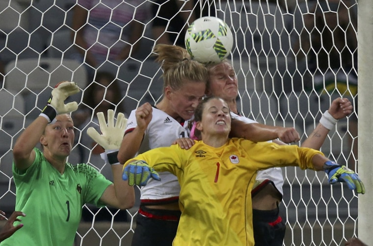 Image: Football - Women's Tournament Semifinal Germany v Canada