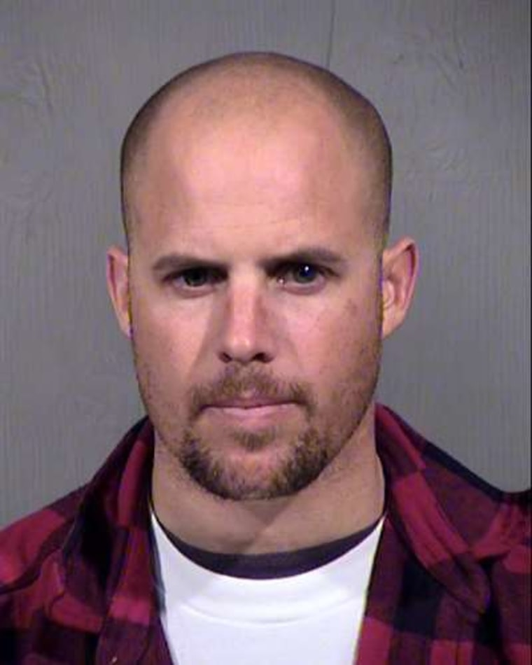 This Jan. 27, 2016, file photo provided by the Maricopa County Sheriff's Office shows Jon Ritzheimer, who was arrested in Arizona Jan. 26, 2016, in connection with the occupation of the Malheur National Wildlife Refuge in Oregon.