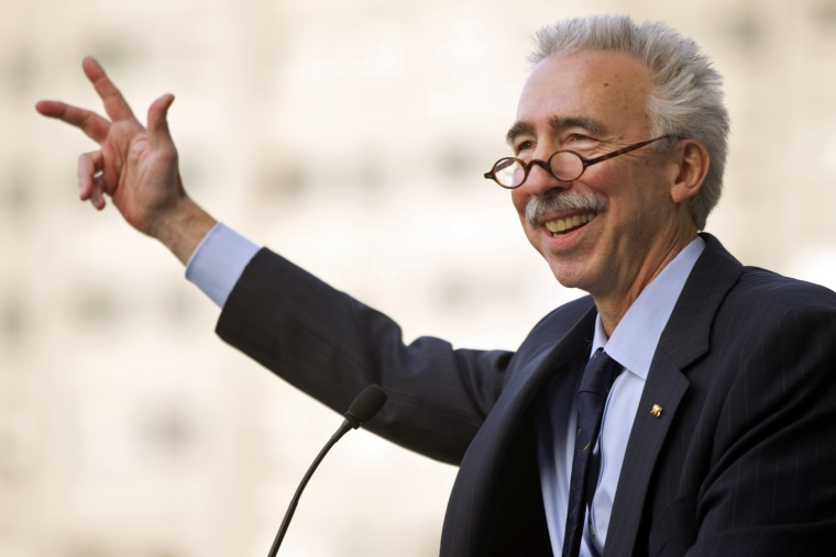 In this Nov. 27, 2012 file photo, University of California, Berkeley chancellor Nicholas Dirks speaks to students, staff and alumni at a ceremony welcoming Dirks to the campus in Berkeley, Calif.