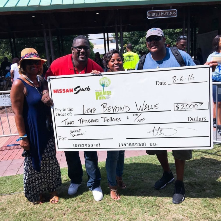 The Lesters received a $2,000 donation from Nissan South, a local car dealership in support of the August 20 #MAP16 (March Against Poverty) from Atlanta, GA to Washington, D.C.