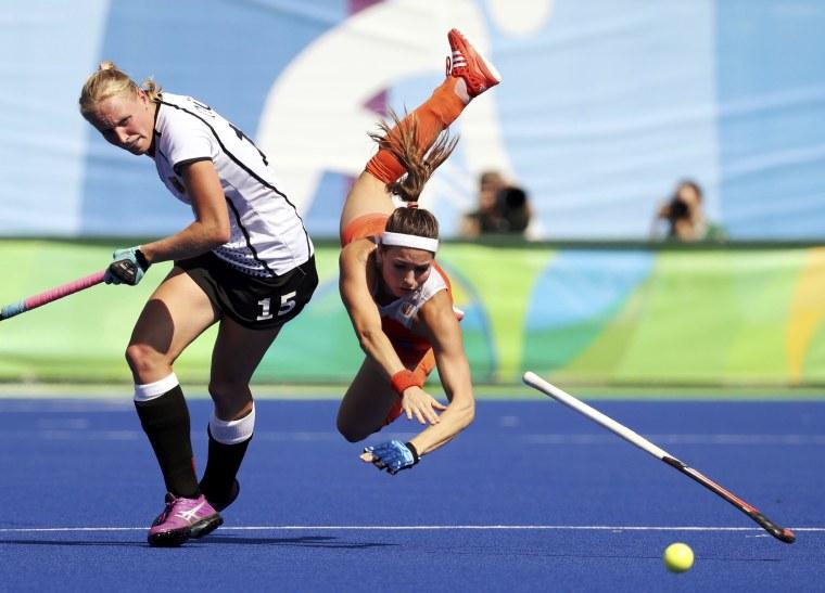 Image: Hockey - Women's Semifinal Match Netherlands v Germany