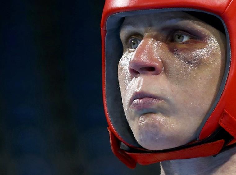 Image: Boxing - Women's Light (60kg) Semifinals Bout 240