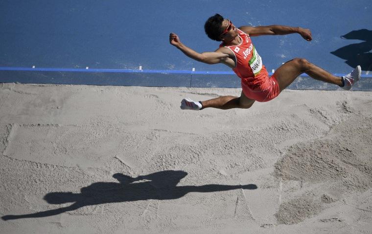 Image: Athletics - Men's Decathlon Long Jump - Groups