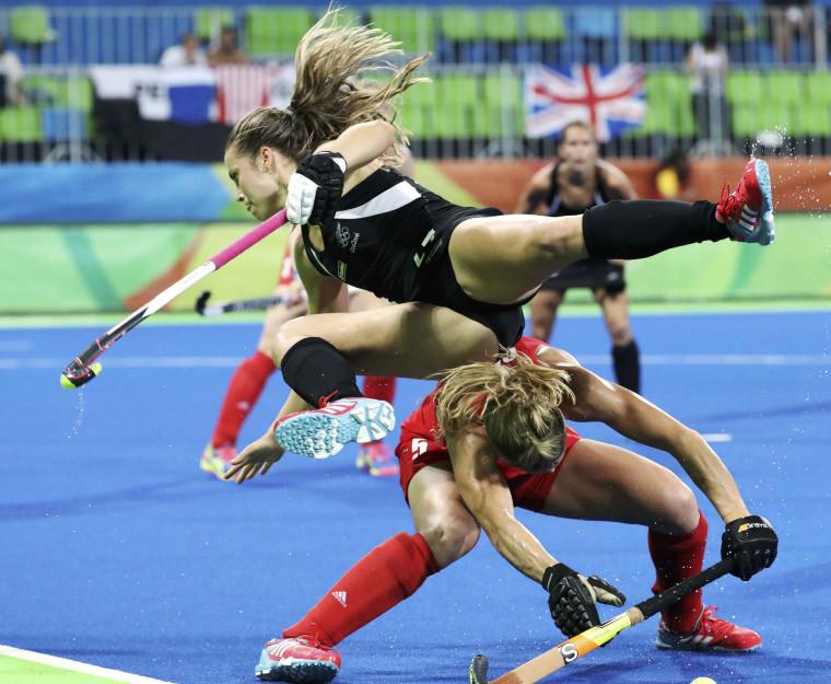 Image: Hockey - Women's Semifinal Match New Zealand v Britain