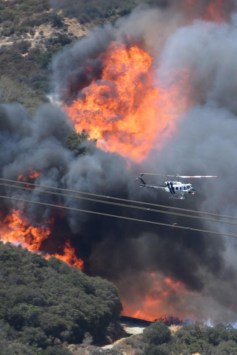 Image: Bluecut fire