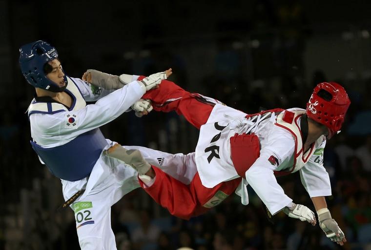 Image: Taekwondo - Men's -68kg Quarterfinals