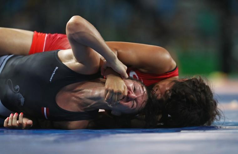 Image: BESTSPIX - Wrestling - Olympics: Day 13