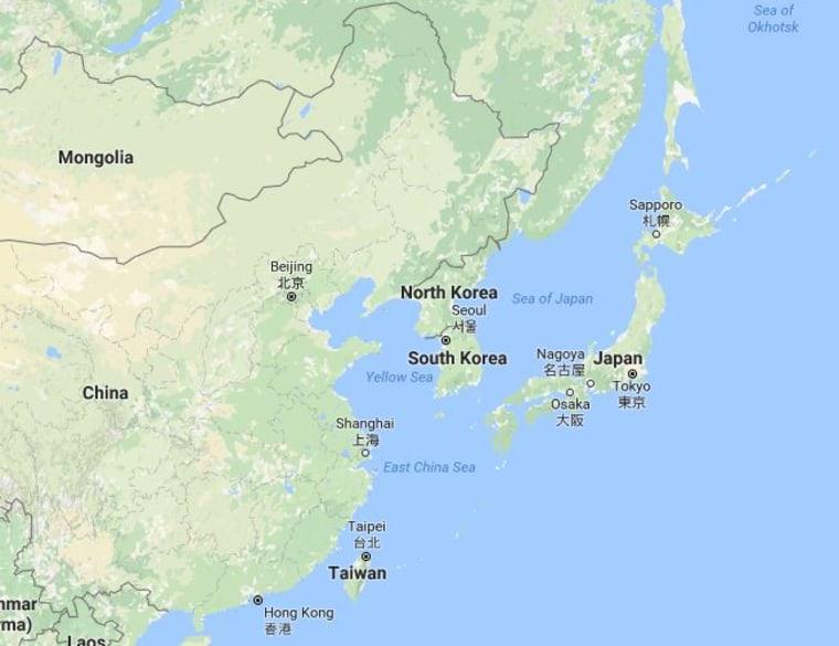 Image: Map showing Sea of Japan