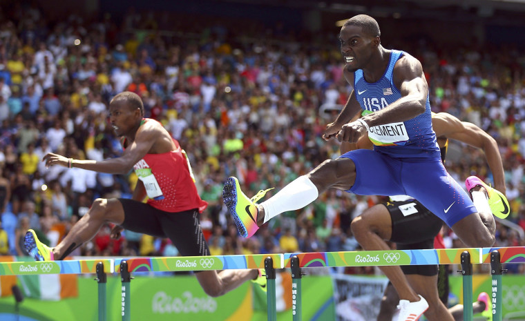 Image: Athletics - Men's 400m Hurdles Final