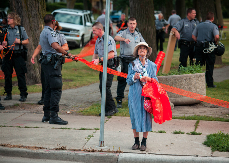 Image: Tensions High In Milwaukee After Police Shooting Of Armed Suspect Sparks Violence In City