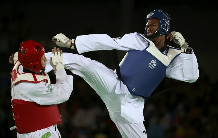 Image: Taekwondo - Men's +80kg Quarterfinals