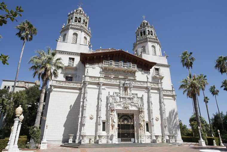 """The """"Casa Grande"""" at Hearst Castle, the legendary home built by publishing tycoon William Randolph Hearst in San Simeon, Calif. is seen in this photo taken on Sept. 2, 2008."""