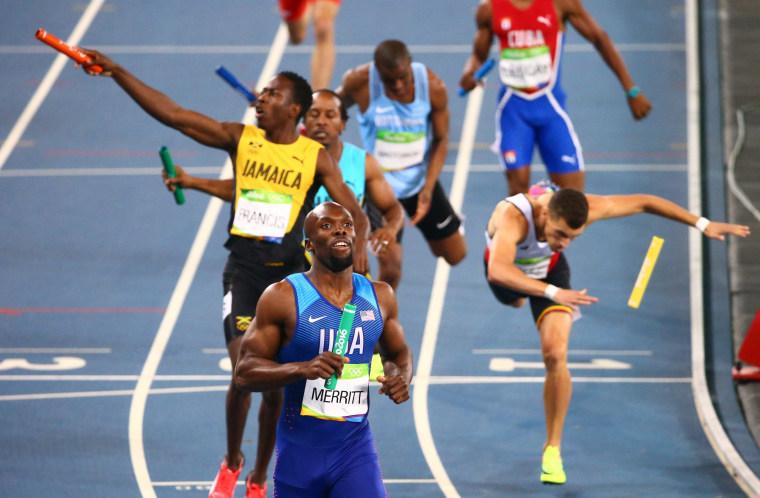 Image: Athletics - Men's 4 x 400m Relay Final