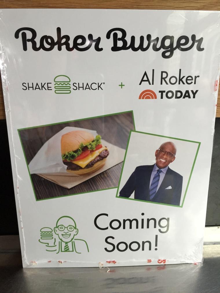 Roker Burger poster at Shake Shack