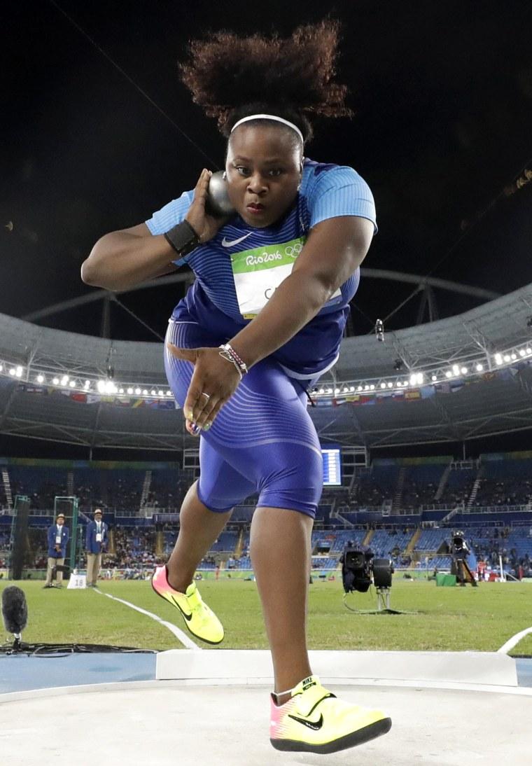Michelle Carter, shot put gold medalist