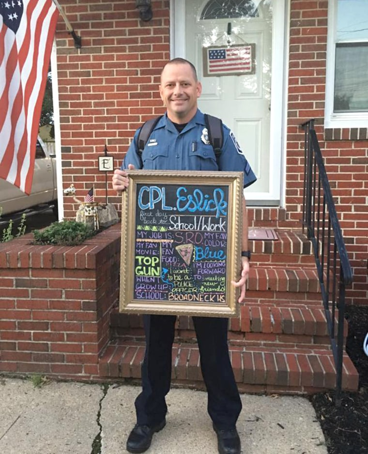 Cory Eslick serves as a school resource officer.