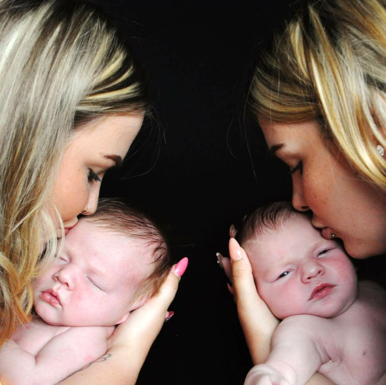 Twins give birth hours apart.