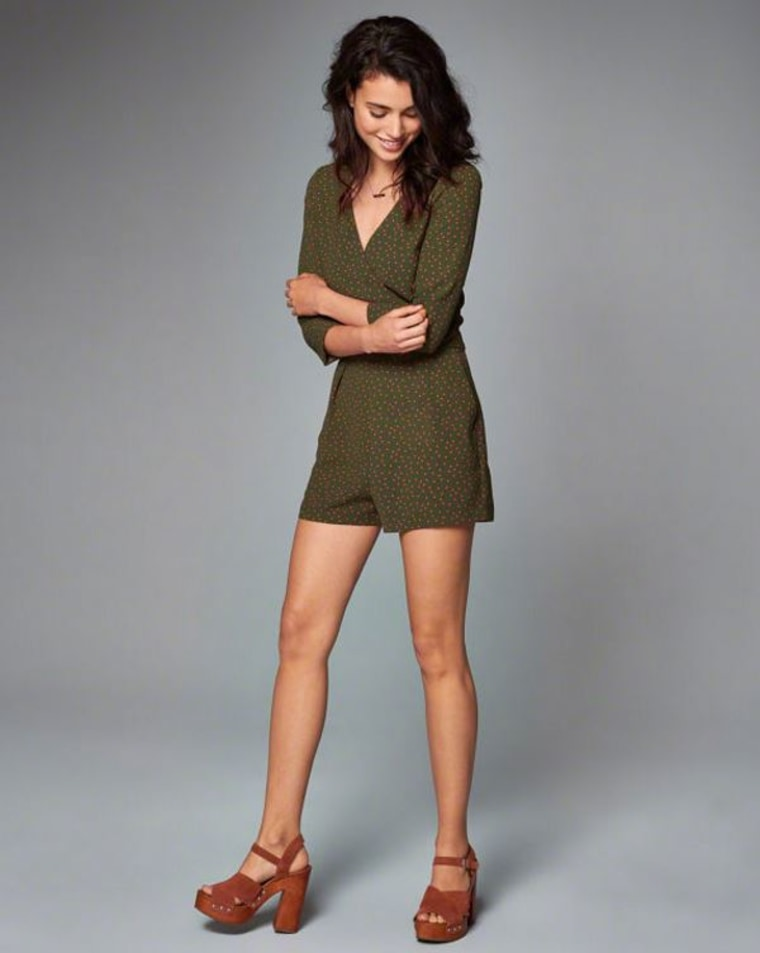 Abercrombie & Fitch wrap-front romper