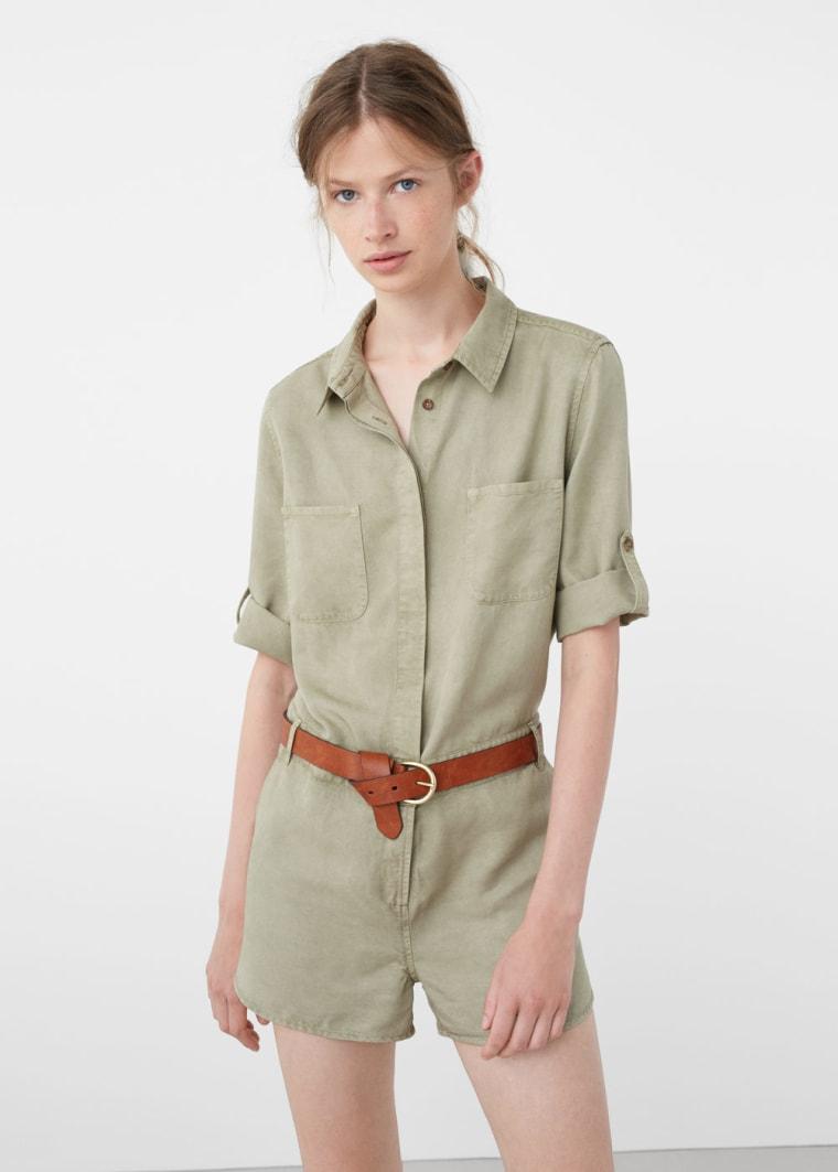 MANGO soft fabric jumpsuit