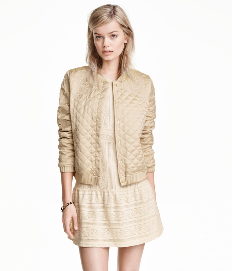 H&M Quilted Jacket with Embroidery