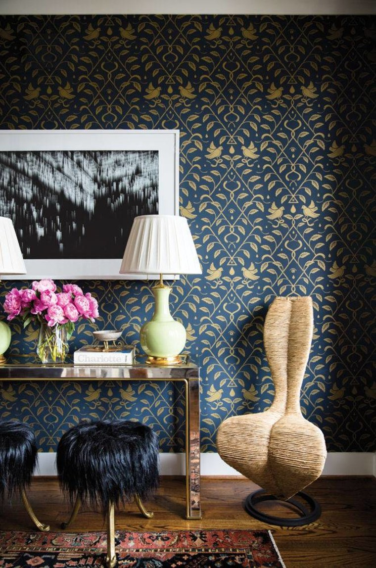 Simple furnishings and playful textiles dominate the decor.