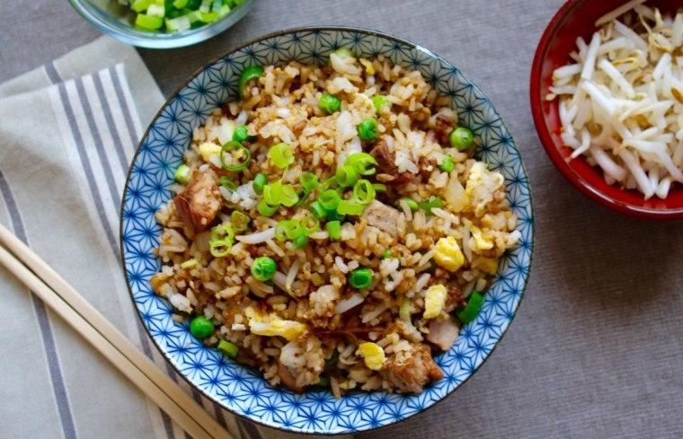 Turn roast pork into pork fried rice