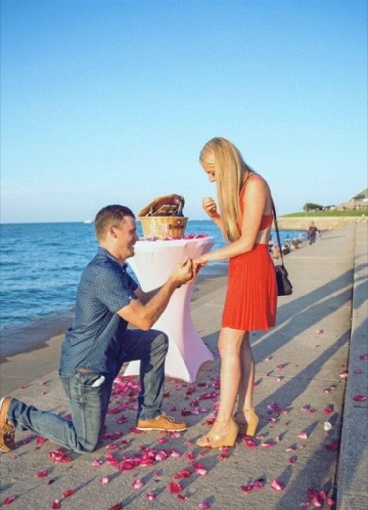 Josh Schmitz's proposal to Danielle Roesch in Chicago, Illinois