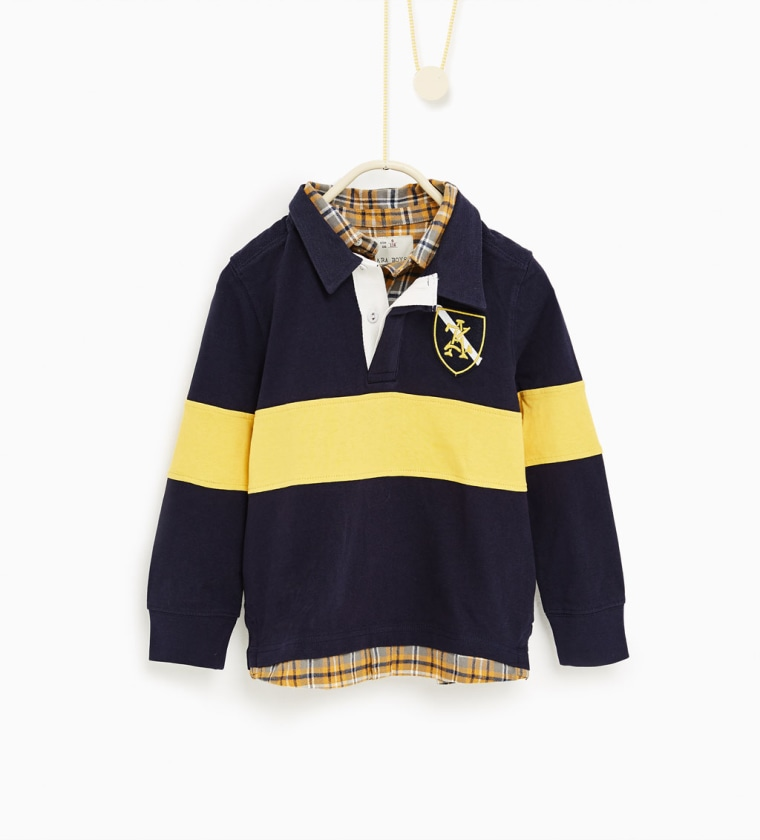 Zara polo shirt with patches