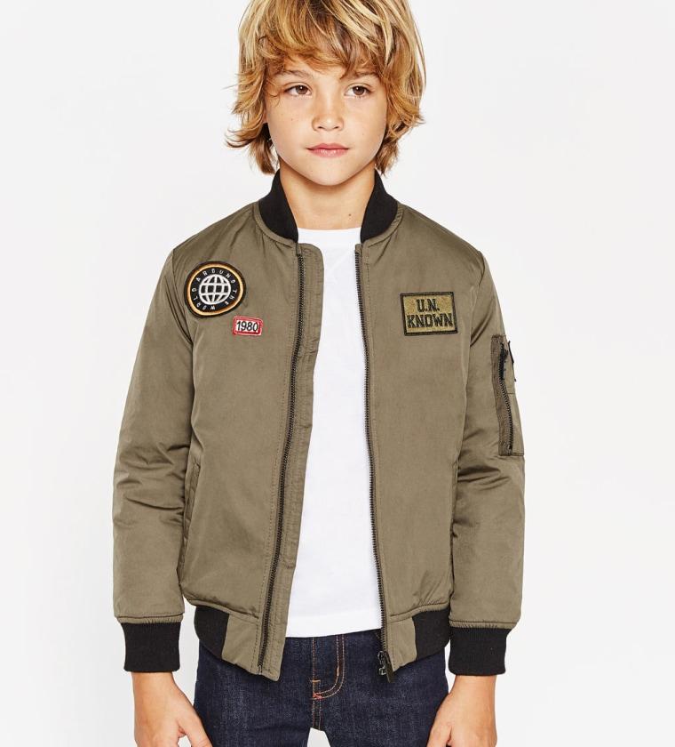 Zara Patch Bomber Jacket