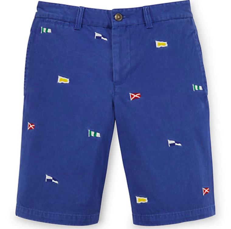 Ralph Lauren flag embroidered shorts
