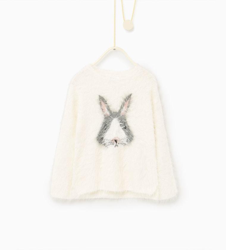 Zara Little Faces Sweater
