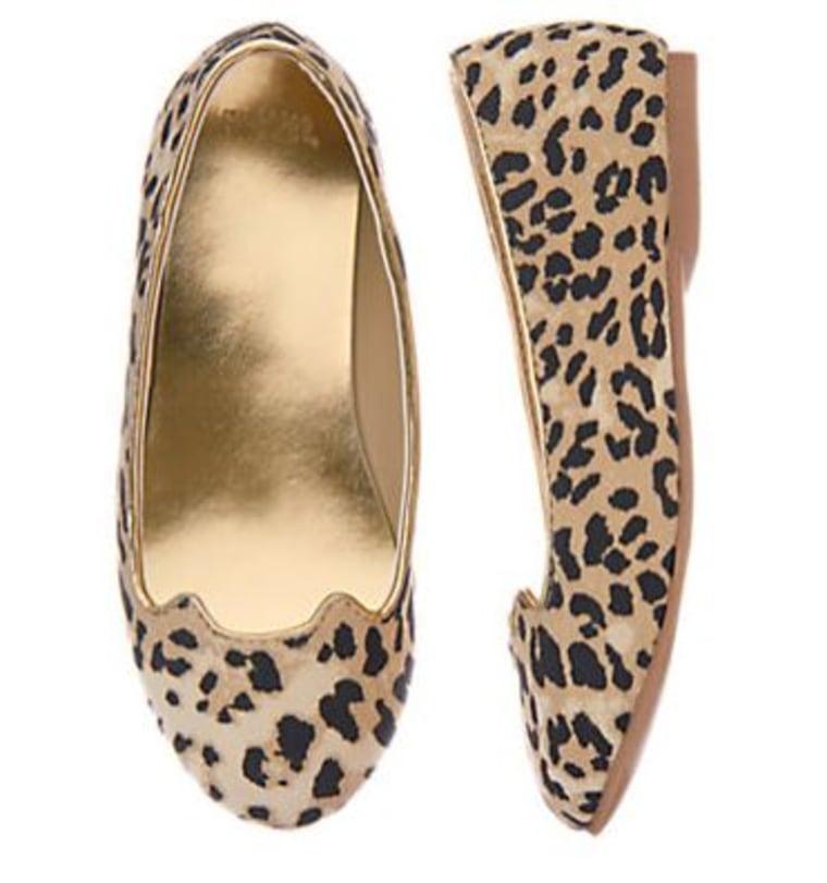 Gymboree leopard flats