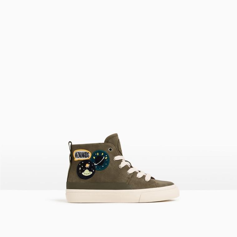 Zara patch high-top sneakers
