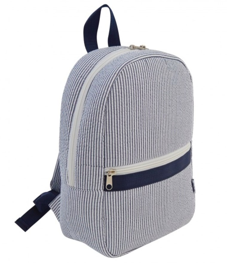 BabySakes.com seersucker backpack