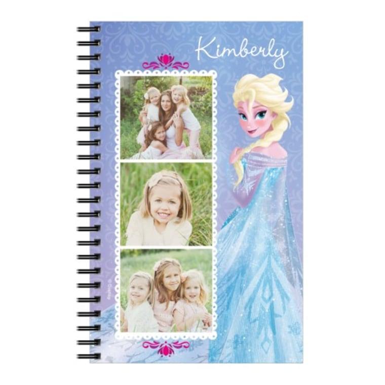 Shutterfly frozen spiral notebook