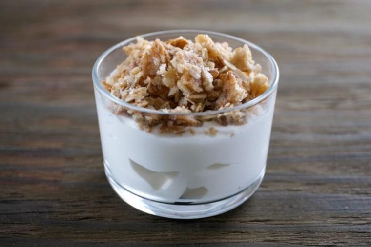 Homemade oat crunch granola