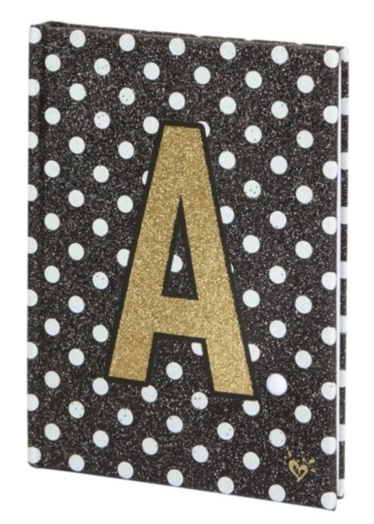 Justice initial polka dot light up journal
