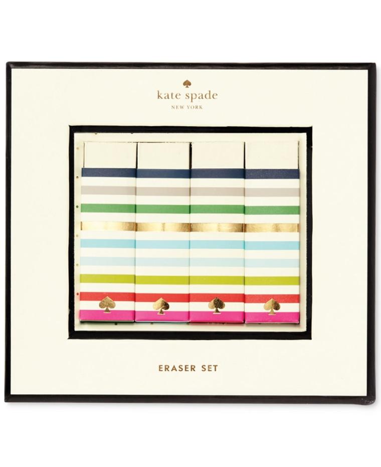 Macy's Kate Spade New York Candy Stripes Eraser Set