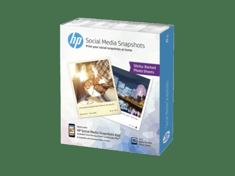 HP Social Media Snapshots Removable Sticky Photo Paper