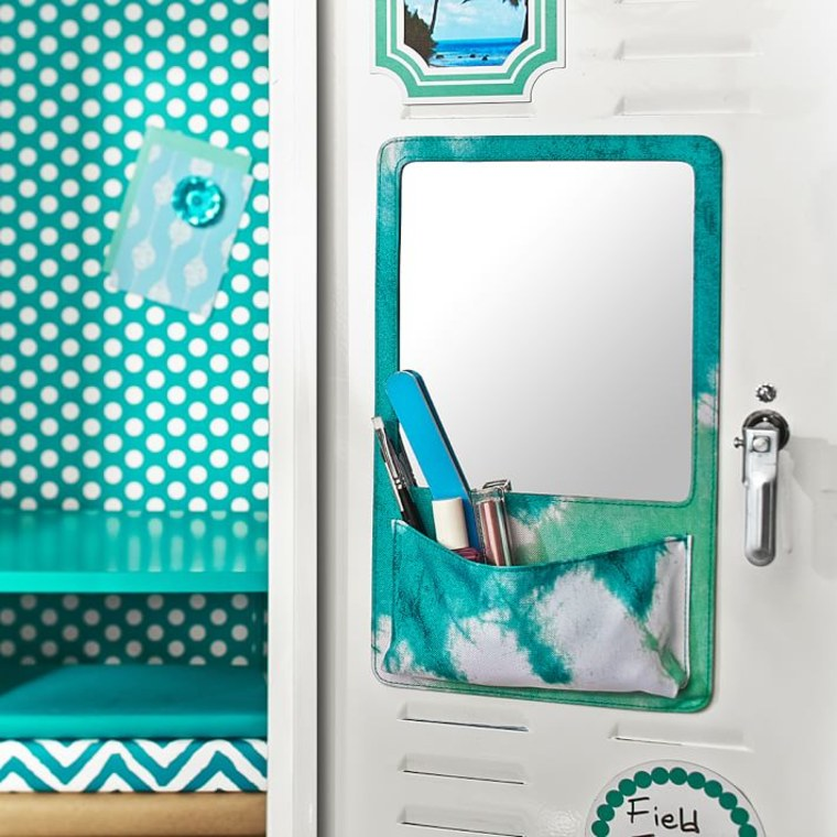 PB Teen Gear Up Pool Tie-Dye Locker Mirror Pocket